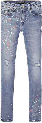 Tommy Hilfiger Girls Paint Splat Skinny Jean