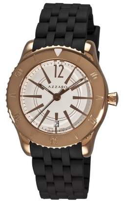 Azzaro Men's AZ2200.52AB.050 Coastline Rose PVD Black Rubber Strap Watch