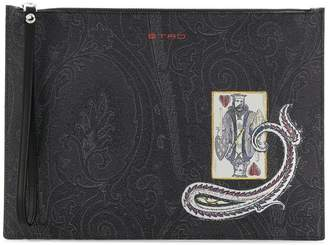 Etro paisley print clutch bag