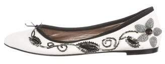 AGL Leather Pointed-Toe Ballet Flats