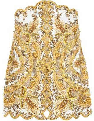 Zimmermann Zippy paisley linen miniskirt