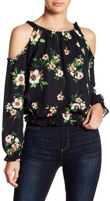 Romeo & Juliet Couture Floral Cold Shoulder Blouse