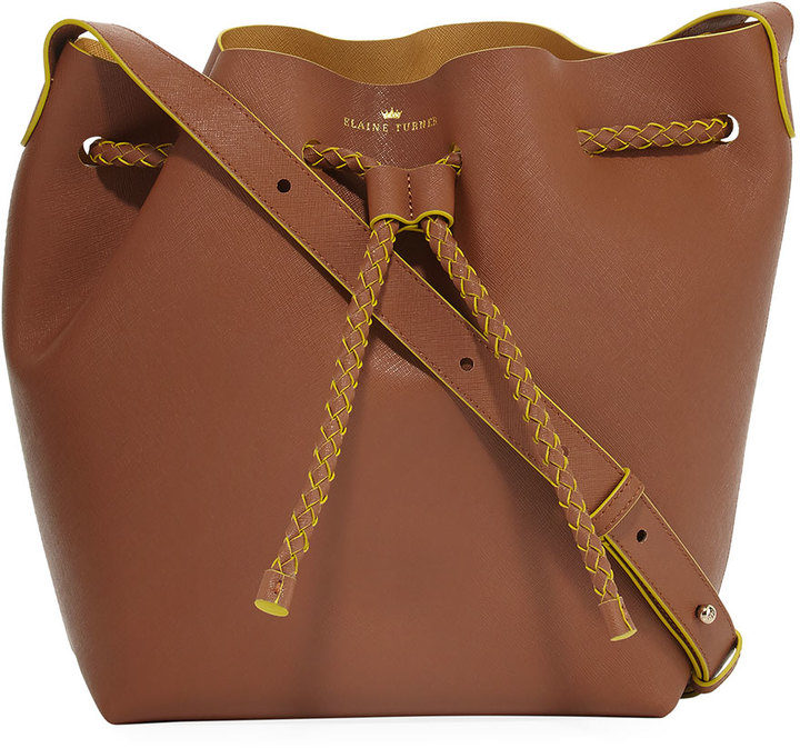 Elaine Turner The Reserve Leather Bucket Bag, Camel