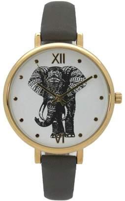 Olivia Pratt Women's Elephant Leather Watch