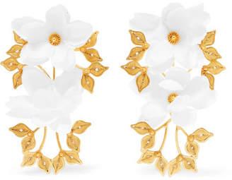 Mallarino Greta Gold Vermeil And Silk Earrings