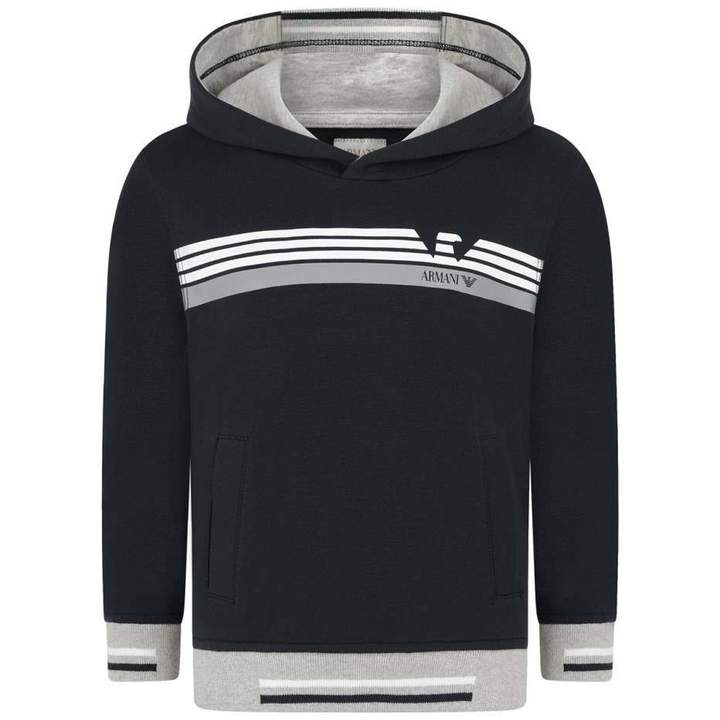 Armani JuniorBoys Navy Hooded Sweater