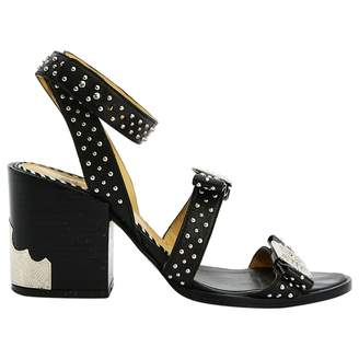Toga Pulla Black Leather Sandals