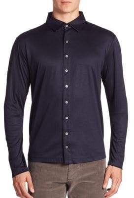 Saks Fifth Avenue COLLECTION Cotton Blend Button-Down Shirt