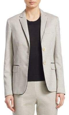 Piazza Sempione Check Jacquard Cotton Jacket