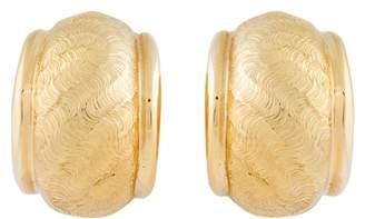 Tiffany & Co. 18K Yellow Gold Half Moon Earrings