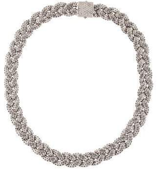 John Hardy Classic Chain Small Diamond Pavé Braided Chain Necklace