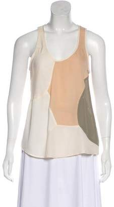 Theyskens' Theory Sleeveless Silk Top