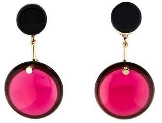 Marni Horn & Resin Drop Earrings