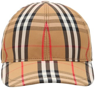 Burberry Vintage Check Print Cotton Baseball Hat