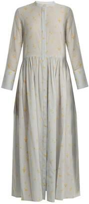 Brock Collection Disco geranium-print gathered cotton dress