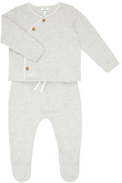 John Lewis & Partners Baby Kimono Top & Leggings Set, Grey