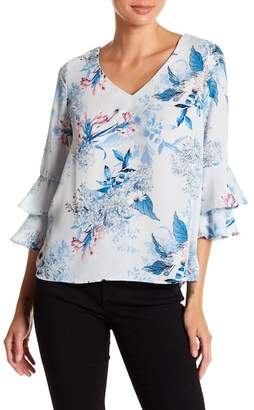 KUT from the Kloth Vesna V-Neck Flounce Top