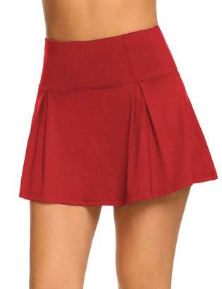 IN'VOLAND Women's Active Performance Skort Casual Pleated Skirt for Running Tennis Golf Workout