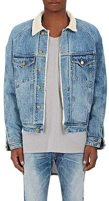 Fear Of God Men's Corduroy Collar Denim Trucker Jacket
