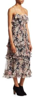 Zimmermann Tempest Frolic Silk Midi Dress