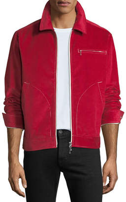 Ovadia & Sons Men's Shedding Light Zip-Front Corduroy Jacket