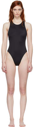 Solid and Striped Black The Eniko Swimsuit