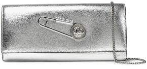 Versace Metallic Textured-Leather Clutch