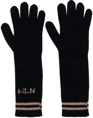 No.21 long logo gloves