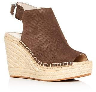 Kenneth Cole Women's Olivia Perforated Platform Wedge Espadrille Sandals
