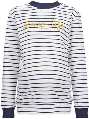 Dorothy Perkins Womens **Maternity Navy Rope Logo Sweat Top