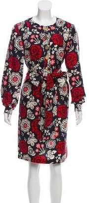 Tory Burch Printed Knee-Length Silk Dress