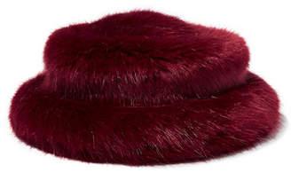 Emma Brewin - Faux Fur Bucket Hat - Burgundy