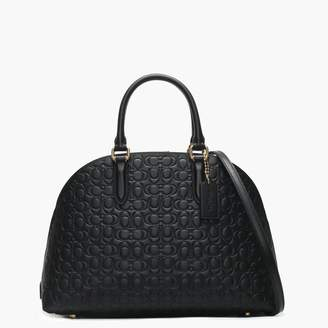 Coach Quinn Black Signature Leather Satchel Bag