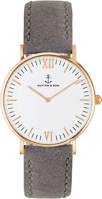 KAPTEN & SON Campus Canvas Strap Watch, 40mm