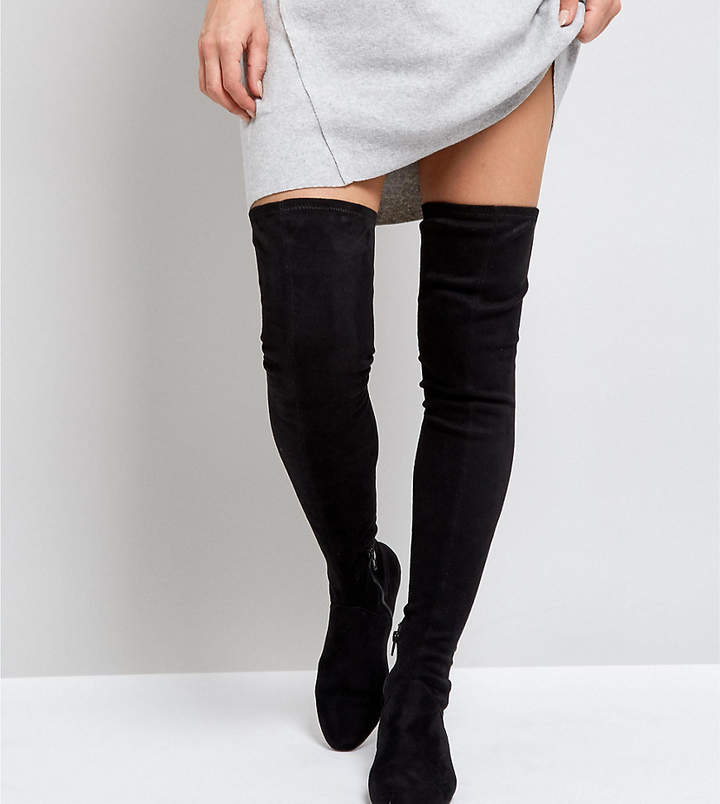 ASOS DESIGN ASOS KASBA Flat Over The Knee Boots