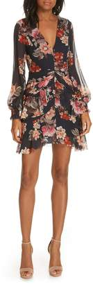 Nicholas Floral Layered Silk Dress