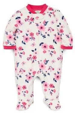 Little Me Baby Girl's Floral Fleece Footie