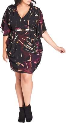 City Chic Faux Wrap Dress