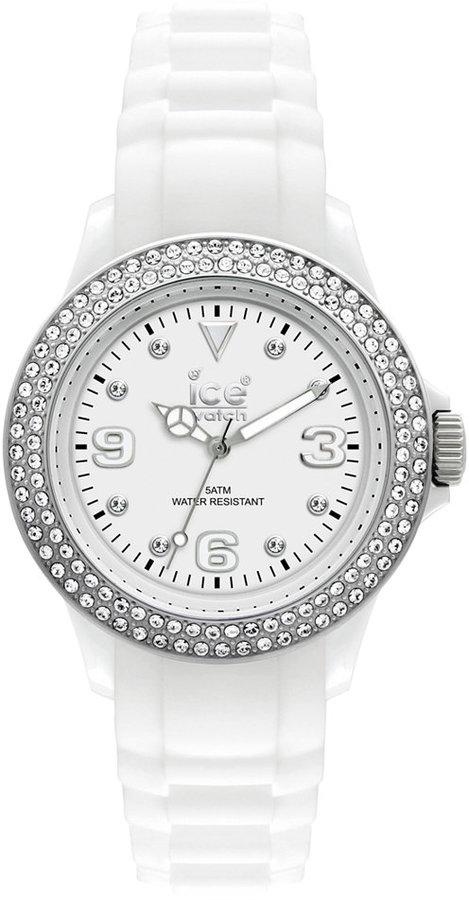 Ice Watch Ice-Watch Watch, Women's Stone-Sili White Silicone Strap 43mm 102076