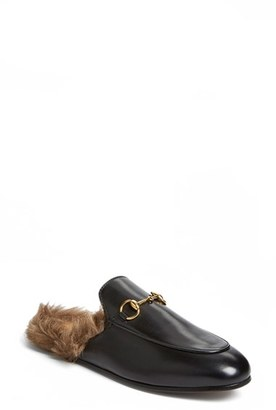 Women's Gucci 'Princetown' Genuine Shearling Mule Loafer $995 thestylecure.com