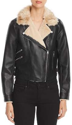 Vero Moda Faux Leather Cropped Moto Jacket