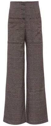 Rejina Pyo Lottie plaid high-waisted trousers