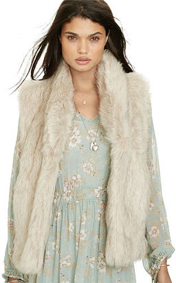 Ralph Lauren Denim & Supply Faux-Fur Vest $245 thestylecure.com