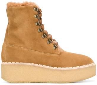 Moncler platform sole ankle boots