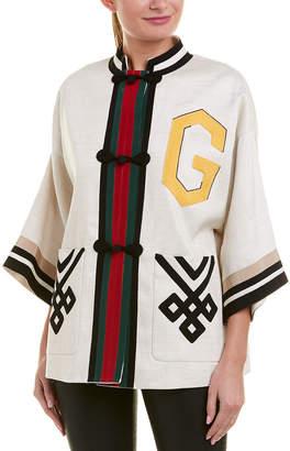 Gucci Linen & Silk-Blend Jacket