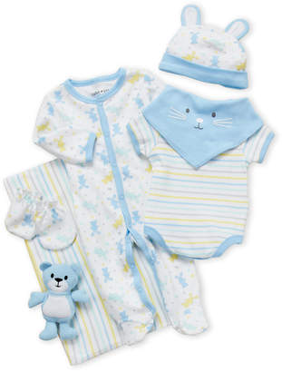 Baby Essentials Cutie Pie (Newborn Boys) 9-Piece Bunny Hanging Gift Set