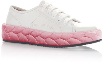 Marco de Vincenzo White & Pink Sneakers $760 thestylecure.com