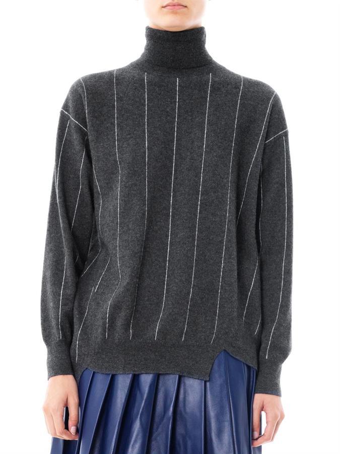 Stella McCartney Pinstripe wool roll-neck sweater