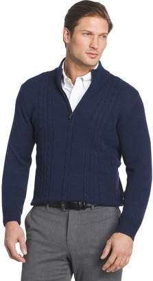 Van Heusen Big & Tall Regular-Fit Cable-Knit Quarter-Zip Sweater