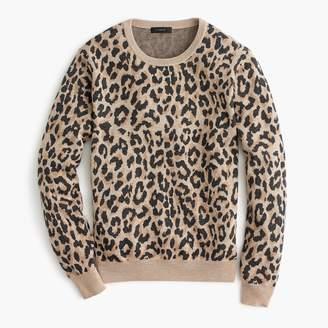 J.Crew Merino crewneck sweatshirt in leopard